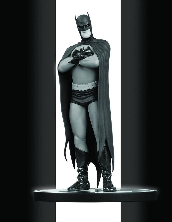 BATMAN BLACK AND WHITE STATUE BY FRANK QUITELY