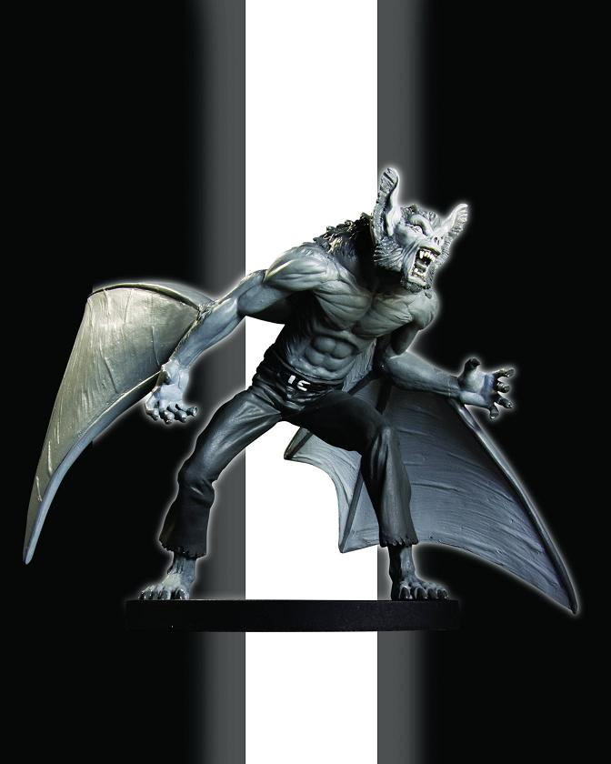 BATMAN BLACK AND WHITE STATUE MAN BAT STATUE